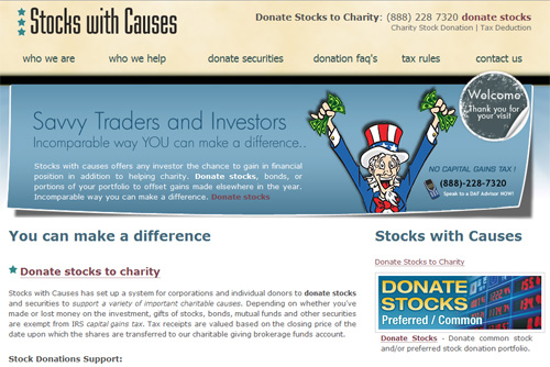 Donate stock options to charity